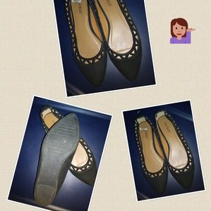 Bamboo Laser Cut Out Flats, Size 9